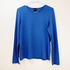 Eileen Fisher Basic Long Sleeve Shirt Top